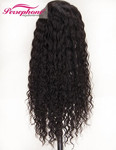 Persephone Real Looking Pre Plucked 360 Lace Wig with Baby Hair 150% Density Brazilian Curly Lace Front Human Hair Wigs for Black Women 14inches Natural Brown Color by Persephone Lace Wig (Image #2)