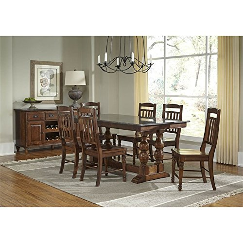 A-America Andover 8 Piece Counter Height Dining Set in Cherry
