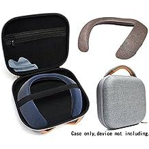 [Patrocinado] Funda protectora para Bose Soundwear compañero inalámbrico altavoz portátil por wgear, aparece diseñado con excelente protección, bolsillo de malla extraíble para cable y otros accesorio, tela gris