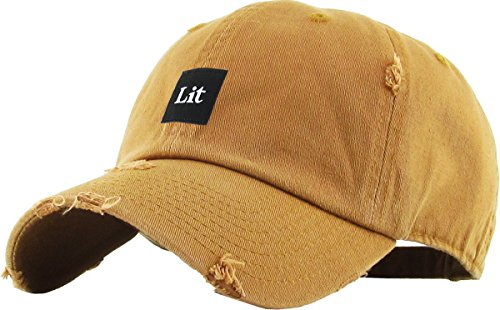 KBSV-071 Tim Lit Patch Vintage Distressed Dad Hat Baseball Cap Adjustable