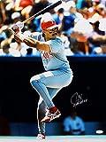 Juan Gonzalez Autographed 16x20 Texas Rangers At Bat Photo W/ 2 AL MVP- JSA Auth