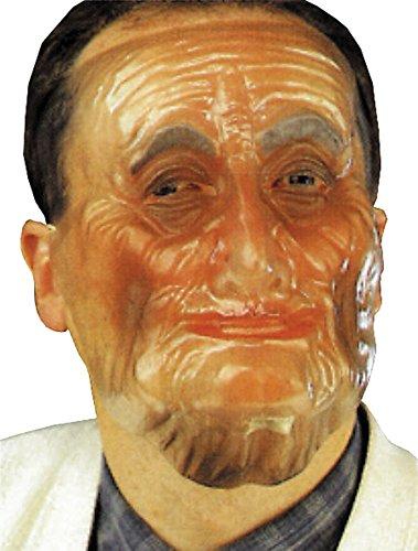 UHC Old Male Plastic Transparent Bizarre Mask Halloween Costume (Transparent Old Man Mask)