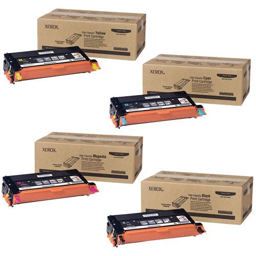 Xerox Phaser 6180 High Yield Toner Set - 113R00723, 113R00724, 113R00725, 113R00726 (Cyan / Magenta / Yellow / - Laser 113r00726
