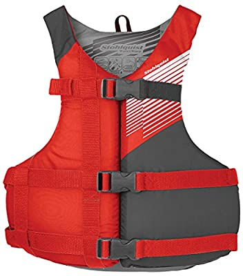 Stohlquist Youth Life Jacket/Personal Flotation Device, 50-90 lb, Red/Gray by Stohlquist