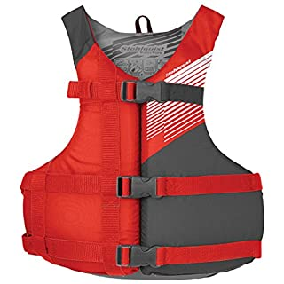 Stohlquist Fit Youth Life Jacket/Personal Flotation Device, 50-90 lb, Red/Gray