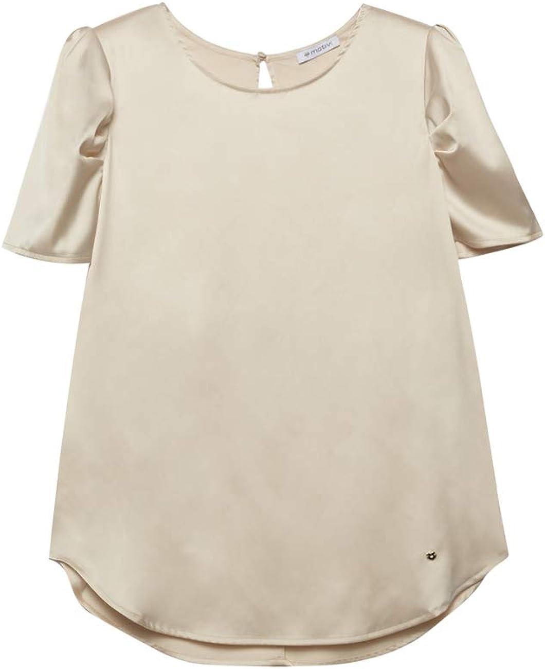 Motivi : Blusa de Raso Blanco 42 (Italian Size): Amazon.es ...