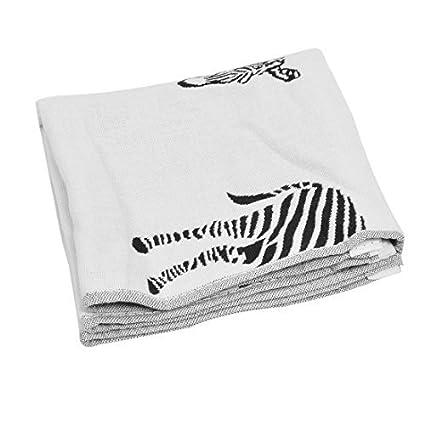 eDealMax Mezclas del algodón patrón de cebra Inicio absorbencia Clean Lavado toalla de baño Toallita