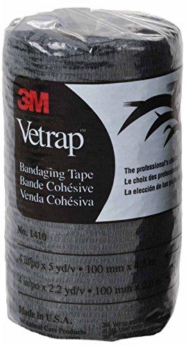 "3M Vetrap 4"" Bandaging Tape, Black 4""x 5 Yards, 6-Pack"
