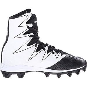 Under Armour Kids Boy's UA Highlight RM Jr Football (Little Kid/Big Kid) Black/White Sneaker 3.5 Big Kid M