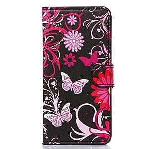 ZMY floración flores patrón pu cuero cubierta del cuerpo completo para iphone 6 más