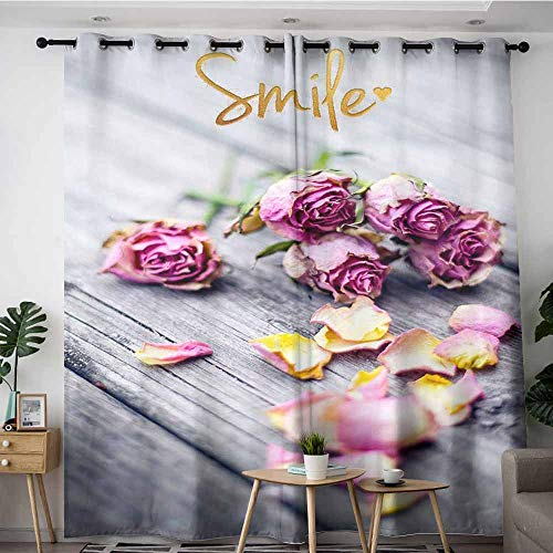 - LOVEEO Thermal Insulating Blackout Curtains,Closeup of Wedding Bouquet Flowers with Unity Candles,Curtains for Living Room,W96x72L