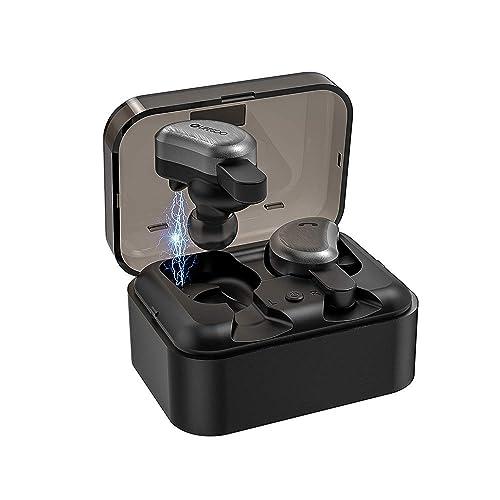 LIFEGOO Mini T Auriculares inalambricos Bluetooth 5 0 Reducción de Ruido con Estuche de Carga Portátil para iPhone y Android Samsung LG Huawei Negro