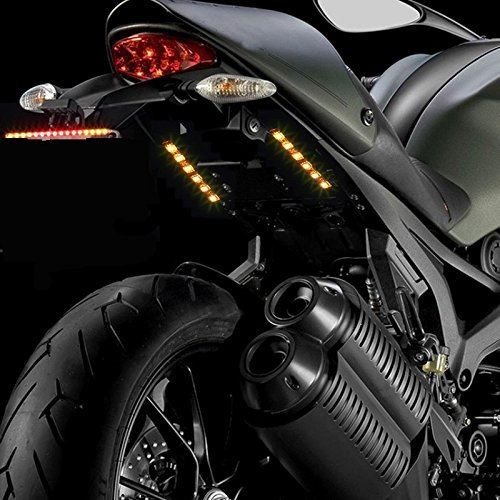 Kingshowstar Universal 2pc 5050 Led Motorcycle Bike Amber LED Turn Signal Indicator Blinker with Total 12 Led 4350358361