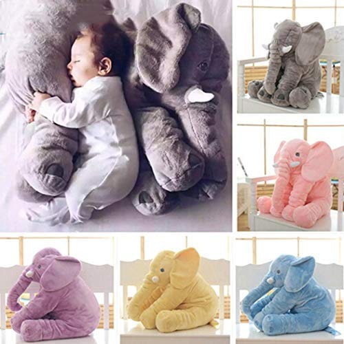 (Kaimu New Kids Children Baby Girls Cotton Blend Plush Cute Elephant Doll Toys Plush Puppets)