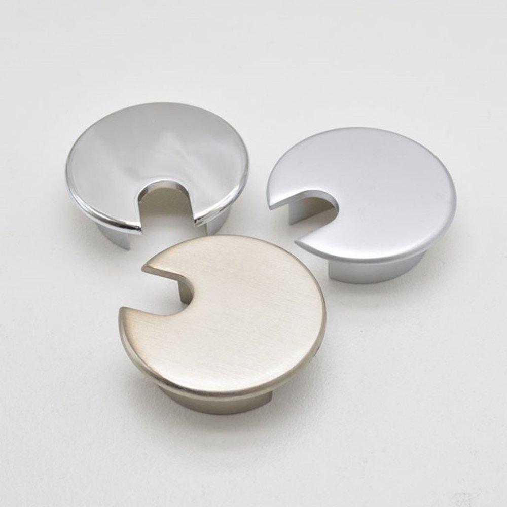 Nacpy scrivania per PC da tavolo casa ufficio Wire passacavo foro di uscita cavo Grommet hole Wire foro 35/mm Pearl argento