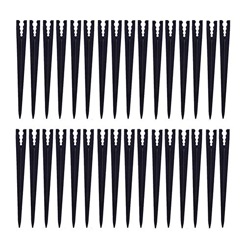 (Adasea 100 Pcs Plastic Irrigation Support Stakes for 1/4