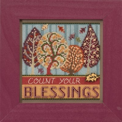 Blessings Beaded Counted Cross Stitch Kit Mill Hill 2017 But