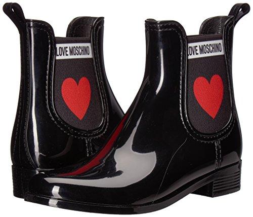 En Pour nod rainboot30 Femmes Pvc nero Scn Bottes Love 000 Black Moschino Uw4tXx6
