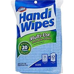 clorox handi wipes multi use reusable cloths 2 pack of 36 count total 72 count. Black Bedroom Furniture Sets. Home Design Ideas