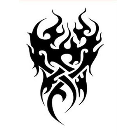 6d90b0ce7b644 Kingko Men's Temporary Tattoo Waterproof Totem Body Arm Leg Art Stickers A ( Black): Amazon.in: Beauty