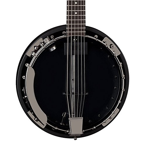 - Dean Backwoods 6 Six-String Banjo with Pickup, Black Chrome