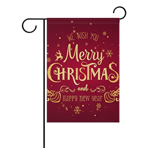 U LIFE Merry Christmas Happy New Year Garden Yard Flag Banne
