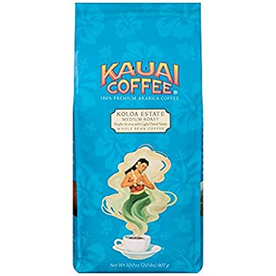 Kauai Coffee, Koloa Estate Medium Roast Whole Bean, 32 Ounce from Kauai