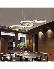 "Modern Circular Led Chandelier, CraftThink 29.53"" Adjustable Hanging Light Contemporary Ceiling Pendant Lighting,White Light Source"
