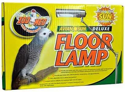 Amazon Com Zoo Med Aviansun Deluxe Floor Lamp Bulb Not Included Pet Supplies