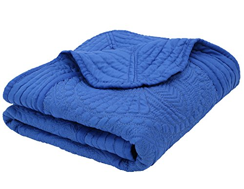 Baby Infant Blankets All Weather Lightweight Embossed Quilt Royal Blue