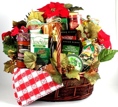 Italian Elegance Holiday Gift Basket | Gorgeous Christmas Gift Basket of Gourmet Italian Food by Organic Stores