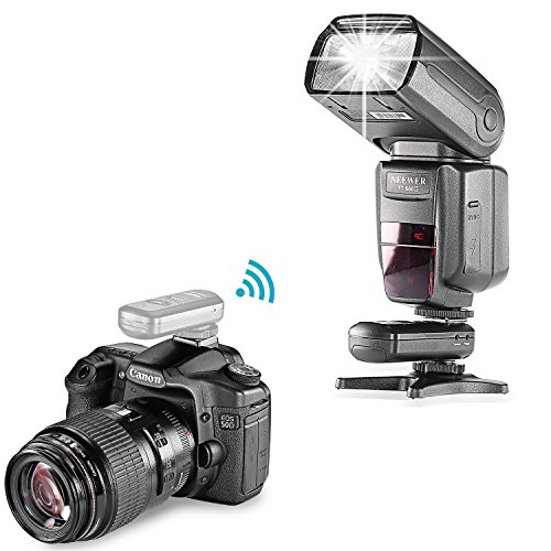 Neewer FC-16 Multi-Channel 2.4GHz 3-IN-1 Wireless Hot Shoe Flash Receiver for Canon and Nikon DSLR Cameras
