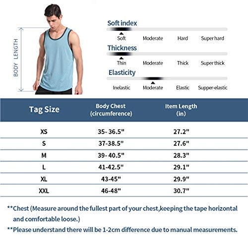 Zengjo Mens Quick Dry Tank Tops Sleeveless Shirts for Gym/Running/Workout