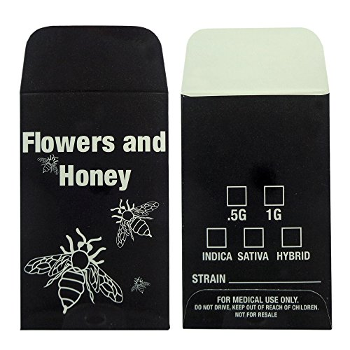 1000 Flowers & Honey Extracts Shatter Labels Wax Strain Coin Envelopes #145 by Shatter Labels