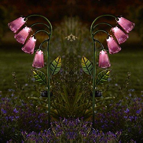 Smart Garden Foxglove Flower Pink Glass Solar Stake Lights