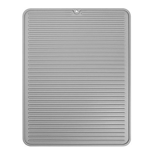 InterDesign 63783EU Lineo Abtropfmatte - Groß, grau