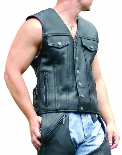 Milwaukee Motorcycle Clothing Company Men's Gambler Vest (XX-Large)