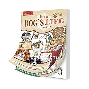 DOG103 Hunkydory It/'s A Dog/'s Life A5 Papercraft Pad