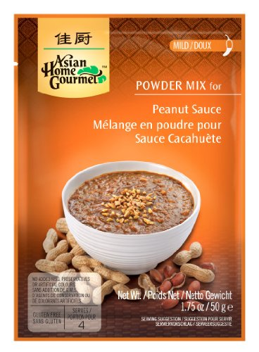Asian Home Gourmet Peanut Sauce Mix, 1.75-Ounce Pouch (Pack of 12)