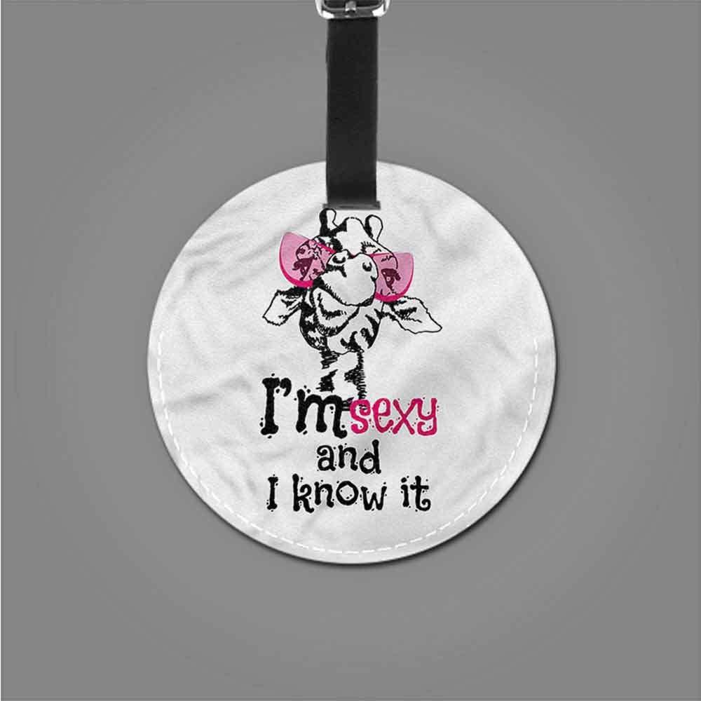 Fashion Giraffe,Childish Fairytale Art Tag Portable Women