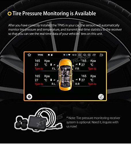 XTRONS 6.95 Inch Android 8.0 Octa Core 4G RAM 32G ROM HD Digital Multi-touch Screen Car Stereo DVD GPS Radio OBD2 Wifi DVR TPMS Double 2 Din by XTRONS (Image #7)