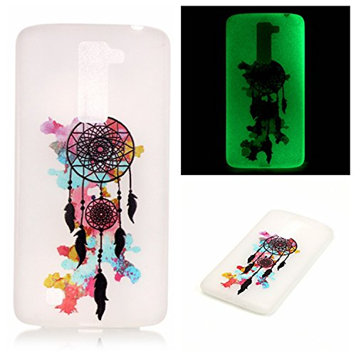 LG K10 Case, LG Premier LTE Case, Luminous Noctilucent Glow in the Dark Case Matching Design Protective Phone Back Cover TPU Shell Case for LG K10 (Dreamcatcher)