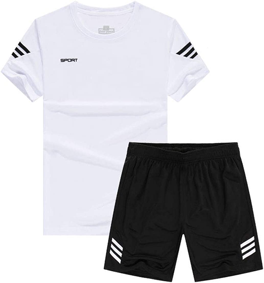 ONTBYB Men Sports Fitness Sets Quick Dry Athletic Training T-Shirt Top /& Pants