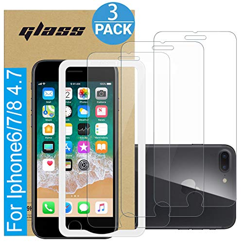Amuoc Compatible with iPhone Screen Protector 3-Pack Clear (for Iphone7 / 8 / 7s / 8s)