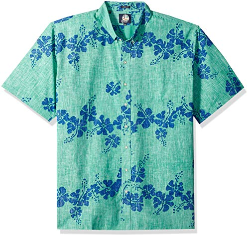 - Reyn Spooner Men's 50th State Flower Button Down Shirt, Mint, XX-Large