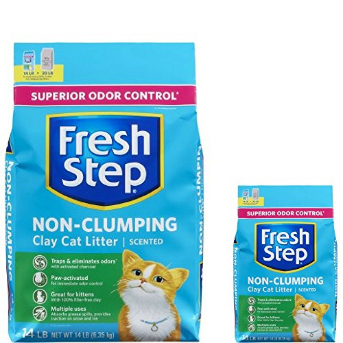 Fresh Step Non Clumping Clay Cat Litter,Scented,14 lbs 2