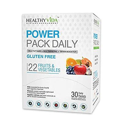 Healthy VIDA™ Power Pack Daily Multi Vitamin, Multi Mineral and Nootropic for Women and Mens Health