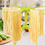 Collapsible Pasta Drying Rack, Spaghetti Drying Rack Noodle Stand, 10-Arm Spaghetti Machine, Abs Plastic, Noodle Dryer, Air-Dried Noodle Rack Tagliatelle, Fettuccine, Vermicelli, Linguine Bracket