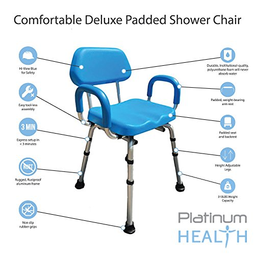 Shower Chair Bath Chair Padded With Armrests