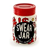 "Enesco Our Name is Mud ""Swear Ceramic Jar with Slotted Cap, 4.75 inches Piggy Bank, Multicolor"
